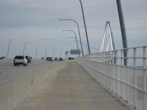 A view of the Arthur Ravenell Jr. Bridge in Charleston.