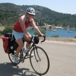 Jenine beginning her journey west across the Peloponnese.