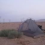 Desert campsite near the city of Hassia in Syria