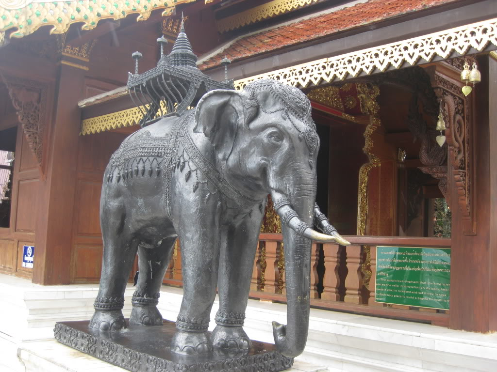 We encountered this Elephant at the Doi Suthep Temple above Chiang Mai.