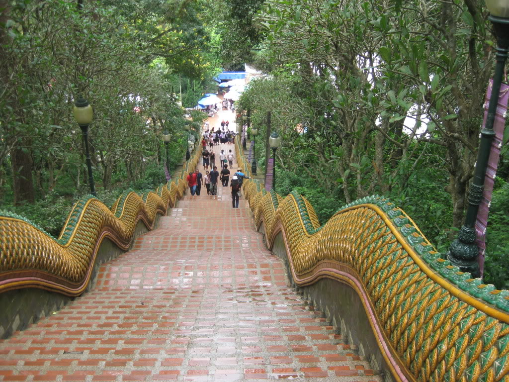 Stairs leading to Doi Suthep Temple