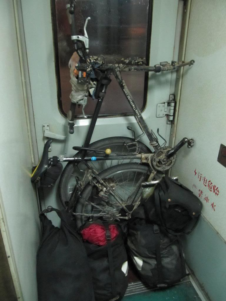 bike in a train