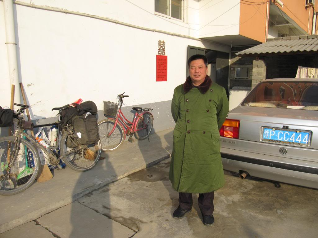 You see a lot of guys - and girls - wearing jackets like this in China.  This man was the innkeeper at a hotel where George and I stayed.