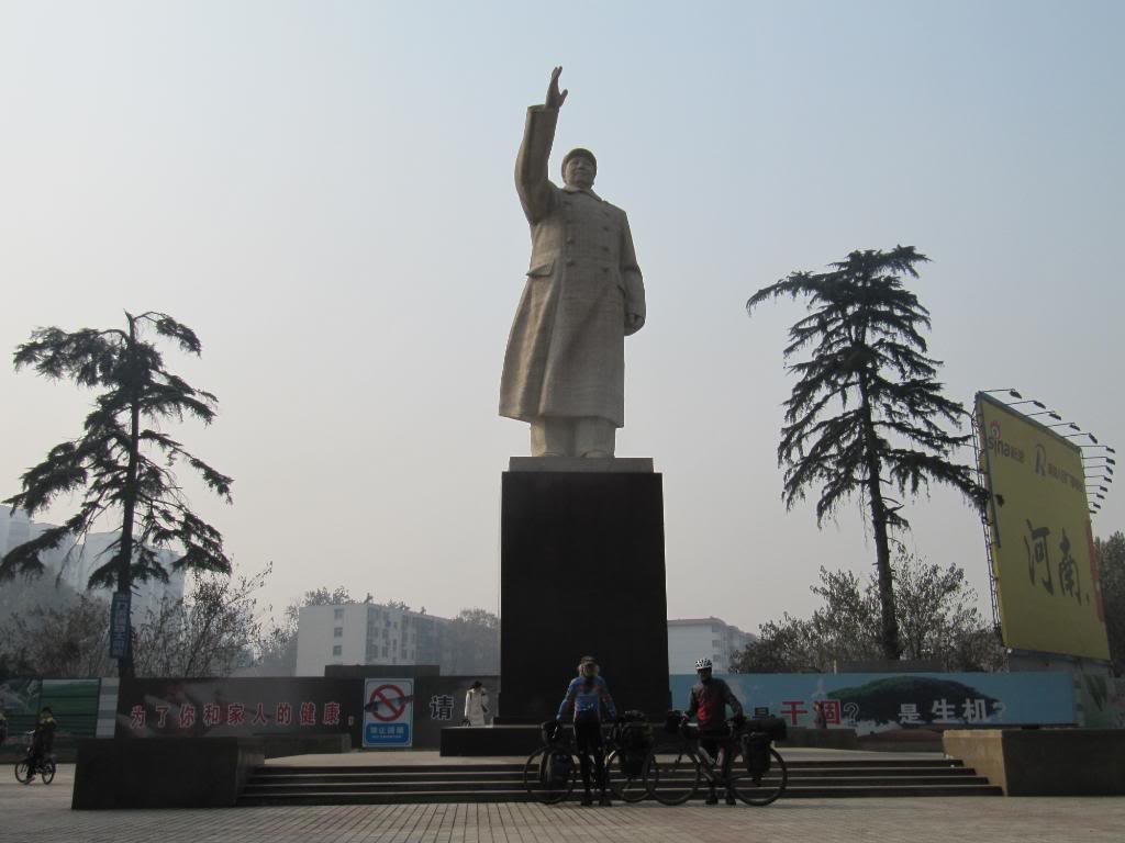 George and me.  And Mao Tse Tung.  Zhengzhou, China.