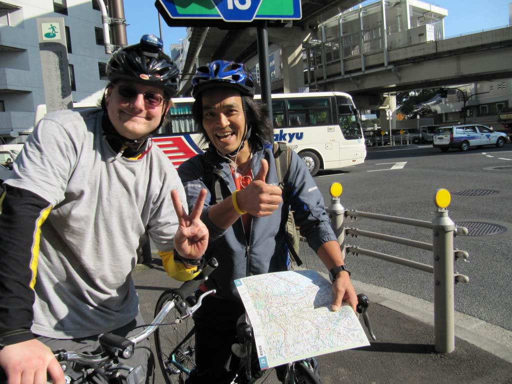 Ian and Juro.  Juro took time to guide us out of Tokyo--thanks Juro!!