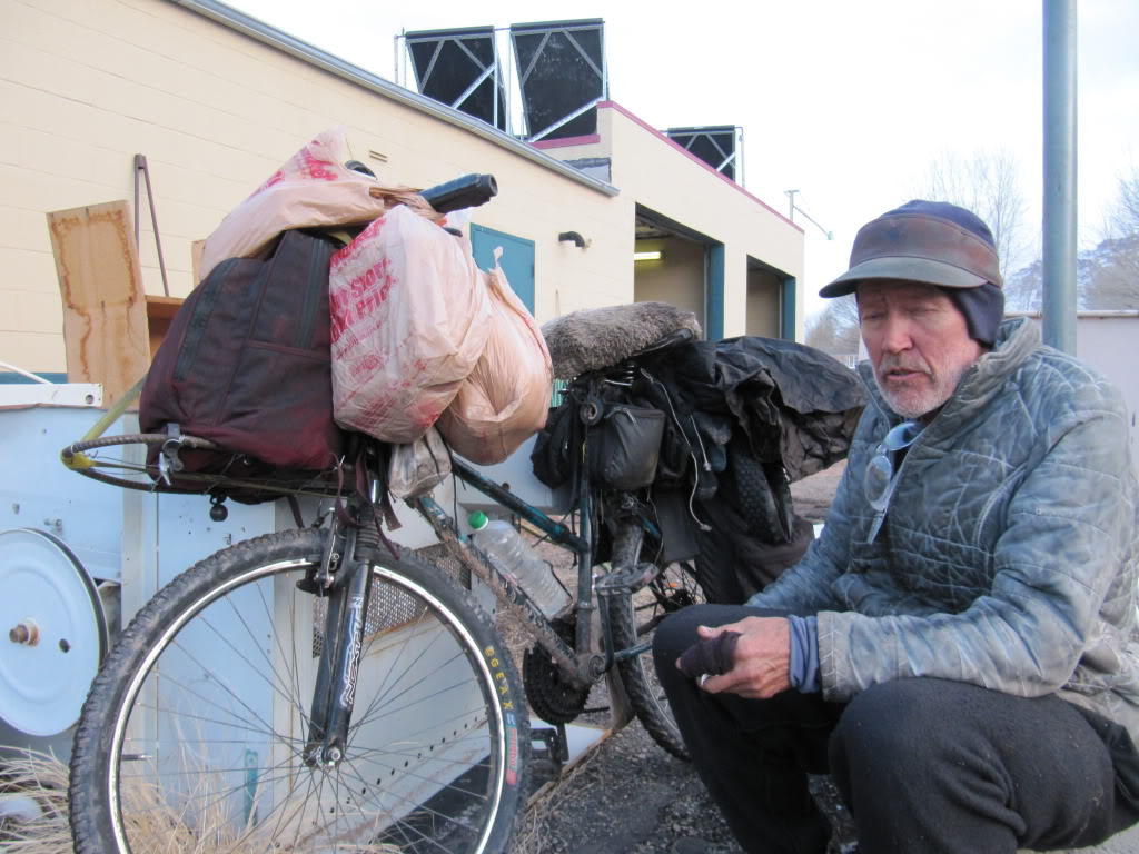 Larry, a veteran of the road, and a Vietnam War protester who I encountered at the 24-hour Laundromat in Moab.