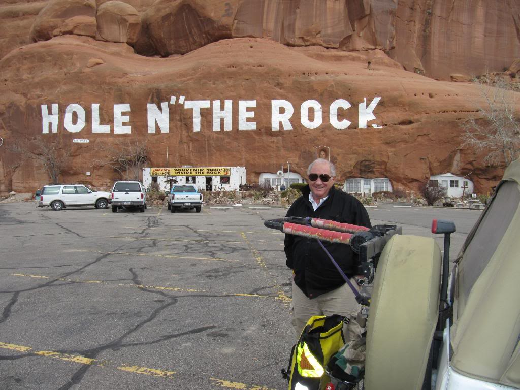 My Dad rolled out to Moab to take some of my gear.