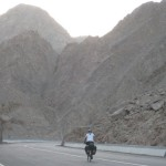 Eerie canyons climb up from Taba up onto the Sinai Peninsula