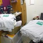 Racking up shirts