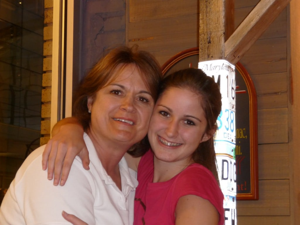 Chelsea with her mother, Julie Hutchison