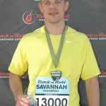 Nathan Alexander at the Rock 'n' Roll Marathon in Savannah, GA