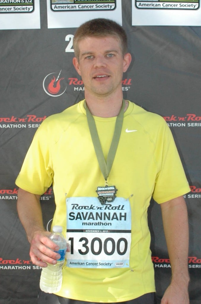 Nathan Alexander at the Rock 'n' Roll Marathon in Savannah, GA