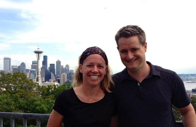 Jessica Veach stands with her husband, Colin, at Kerry Park in Seattle. Jessica's seizures forced her to give up driving, and to take leave from her teaching career.  But just last year, Jessica had brain surgery to stop her seizures, and the future looks bright.  Today, she devotes herself to her job with the Epilepsy Foundation Northwest, and to helping others overcome the challenges of epilepsy.   Jessica wrote the following article to share her experiences with epilepsy and about her recent brain surgery.