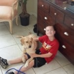 Meet Nathan Schoonover and his new best friend, Bella